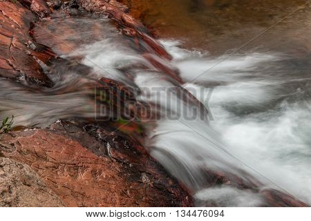 Small Waterfall Flowing Over Rocks in the Interior of Brazil