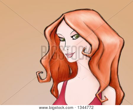 Red-Haired Woman Portrait