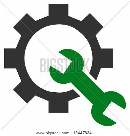 Configuration Tools vector icon. Style is bicolor flat icon symbol, green and gray colors, white background.