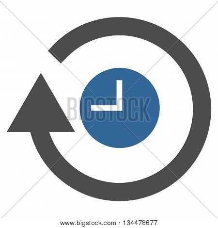 Repeat Clock vector icon. Style is bicolor flat icon symbol, cobalt and gray colors, white background.