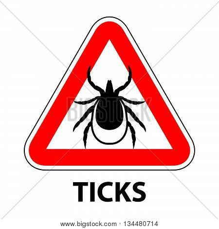 Vector Image Of A Tick In A Red Crossed-out Circle - Ticks Stop Sign