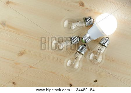 Led And Incandescent Lamps