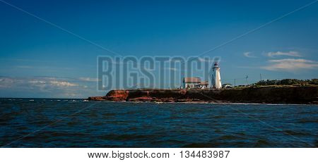 East point lighthouse from the Atlantic ocean
