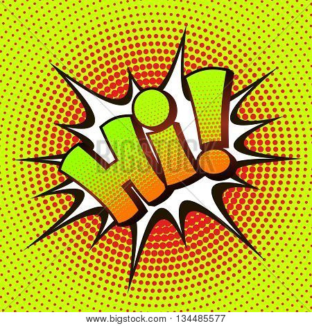 Hi pop art on a background of halftone. Retro comics. Vector illustration