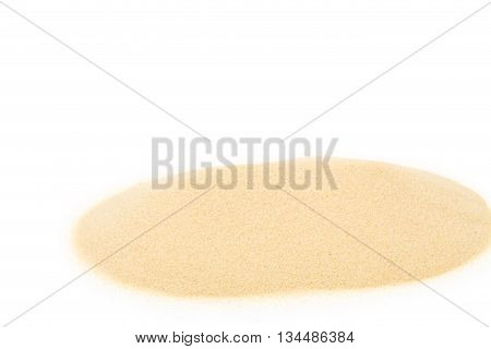 Heap of sand. Isolated on a white background.
