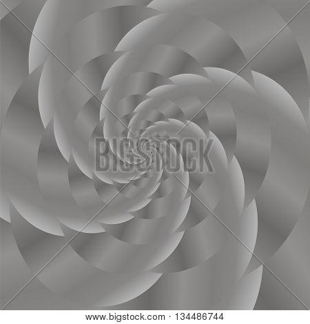 Fractal Design. Abstract Sphere. Grey Spiral Background. Fractal Pattern