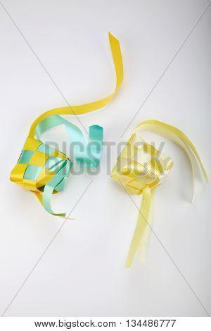 decoration ketupat on the whitebackground