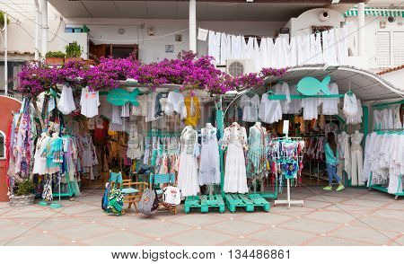 Clothing Store Made In Italy In Positano.