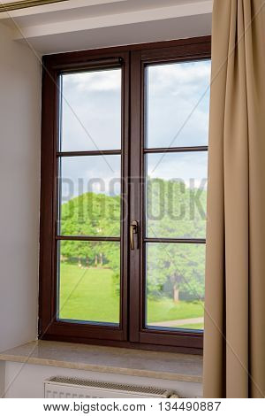 Wood Plastic Vinyl Window