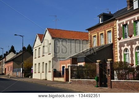 Fleury sur Andelle France - march 15 2016 : the main street of the village