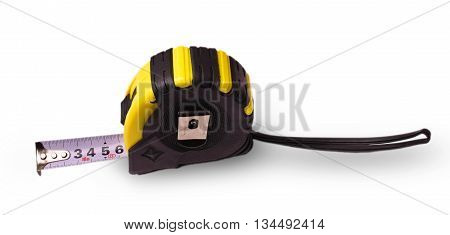 building a compact measuring tape on white background