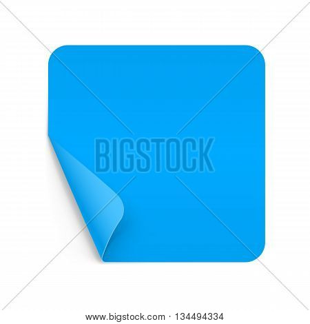 Illustration of Blue Paper Notepad with Curling Coner