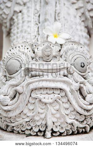 Lion guardian statue Thailand