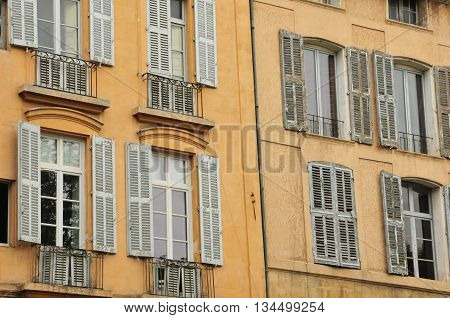 Aix en Provence France - april 21 2016 : old building in cours Mirabeau
