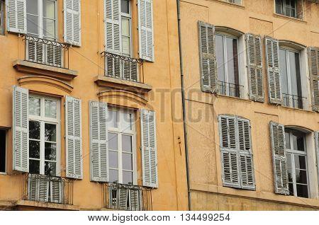 Aix en Provence France - april 21 2016 : old building in cours Mirabeau