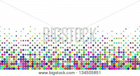 Horizontal Gradient Seamless Background with Color Dots