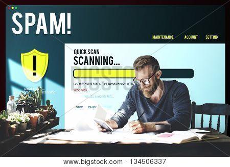 Spam Computer Virus Unauthorized Concept