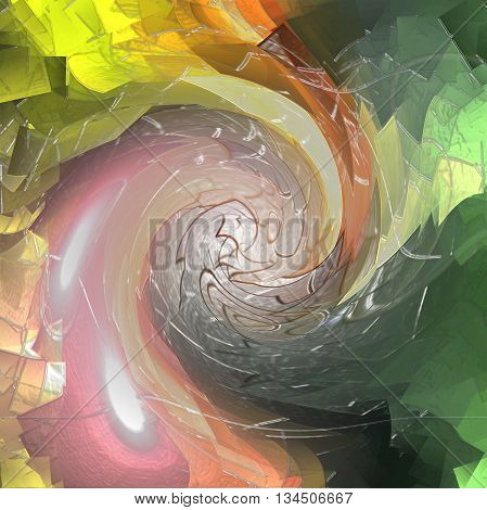 Abstract coloring background of the sunrise gradient with visual plastic wrap effects,good for your idea design in the project
