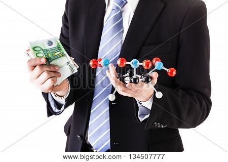 Holding A Tnt Molecule And Money