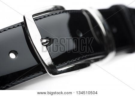 Patent Leather Belt Close up