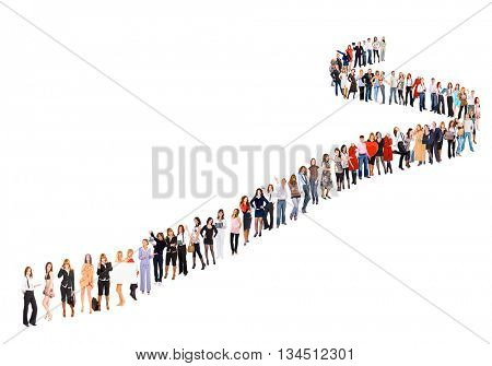 Very Long Line Isolated over White