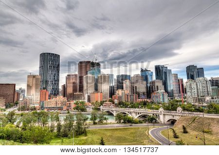 Calgary Downtown In Hdr