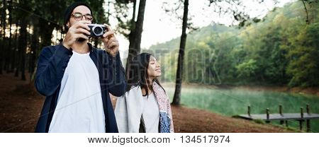 Couple Lover Togetherness Friendship Happiness Concept