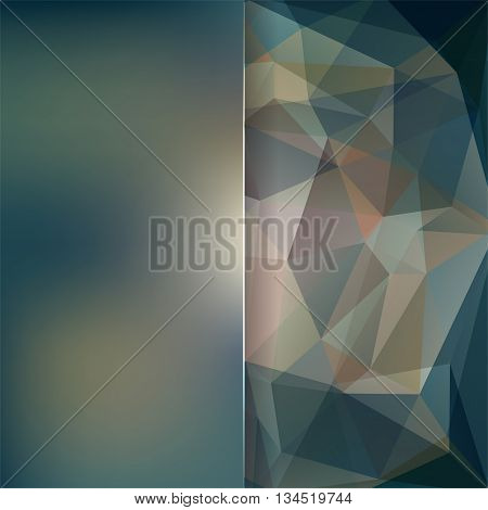 Abstract Background Consisting Of Brown, Green, Gray Triangles And Matt Glass