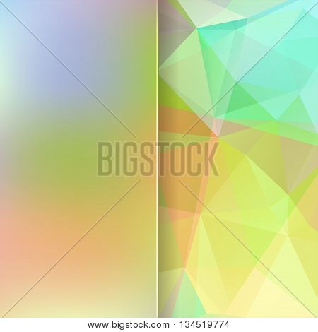 Abstract Background Consisting Of Pastel Triangles And Matt Glass, Vector Illustration