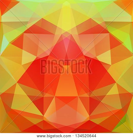 Abstract Background Consisting Of Red, Green Triangles, Vector Illustration