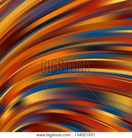 Colorful Smooth Orange, Brown, Blue Lines Background. Vector Illustration