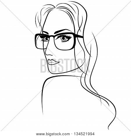 Attractive Woman In Eyeglasses
