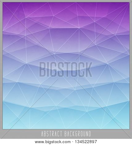 Abstract geometric polygon facet background mosaic made by triangles. Vector illustration eps10
