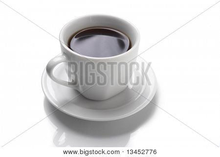 Perfect white coffee cup   on white