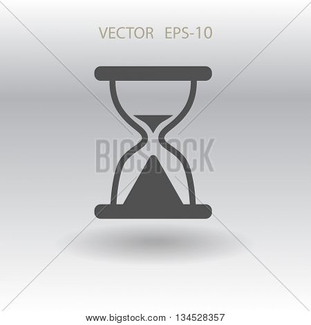 Flat icon of hourglass