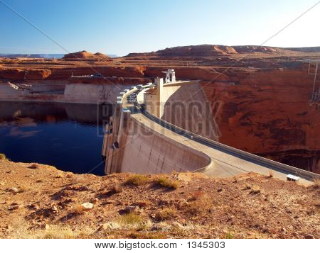 The Glen Canyon Dam And Lake Powell