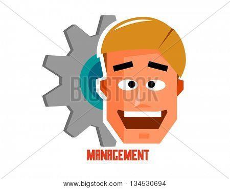 Management graphic. Flat vector illustration.