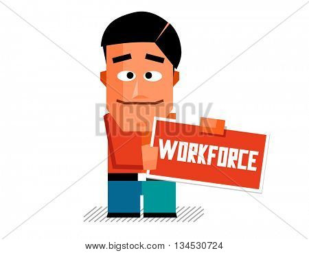 Workforce graphic. Flat vector illustration.