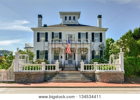 Augusta, Maine - May 30, 2016: The Blaine House also known as James G. Blaine House is the official residence of the Governor of Maine and his or her family.