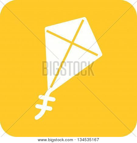 Kite, flying, summer icon vector image. Can also be used for seasons. Suitable for use on web apps, mobile apps and print media