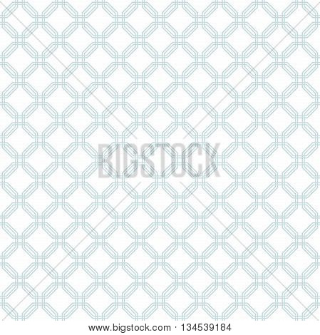 Geometric fine abstract hexagonal background. Seamless modern pattern with light blue octagons