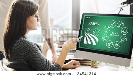 Agriculture Harvest Agronomy Cultivation Production Concept