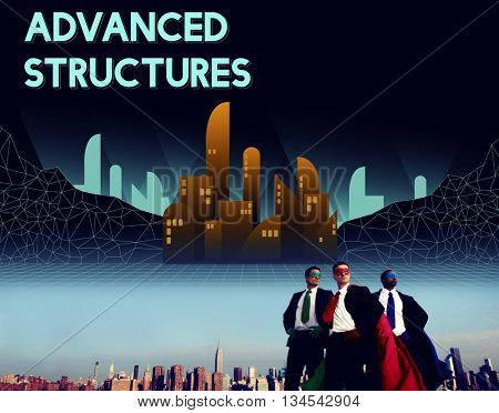Advanced Structure Urban Modern Building Concept