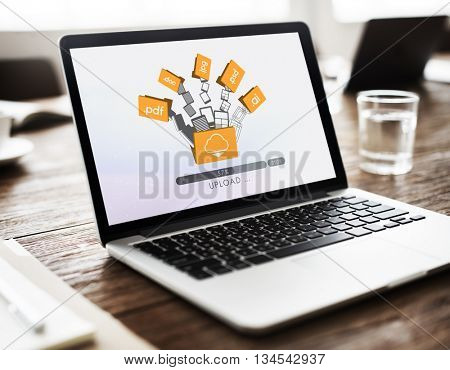 Data Backup Files Online Database Storage Concept