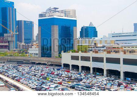 BANGKOK Thailand - APRIL 2 2016 : Parking car for passenger speed train BTS