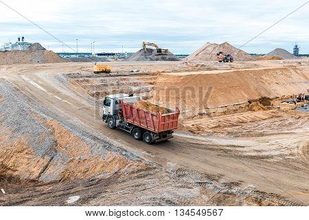 Construction Works Near Sea Port