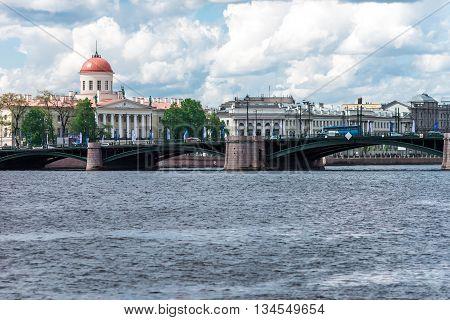 Birzhevoy Bridge View