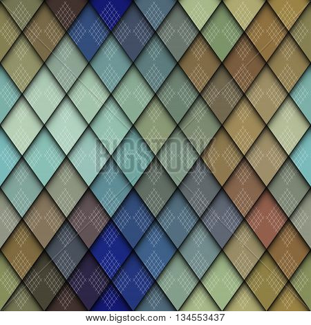 Abstract seamless rhombus pattern with a relief effect.