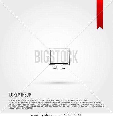 Monitor icon. Monitor symbol. Flat design style. Template for design.