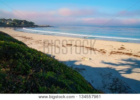 Blue Ocean Landscape With White Sand